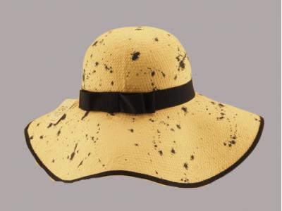 Cappello paglia bordo nero