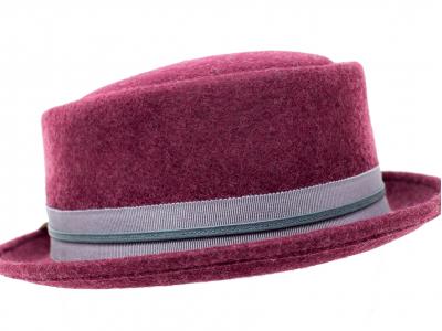 Cappello bordeaux a cilindro