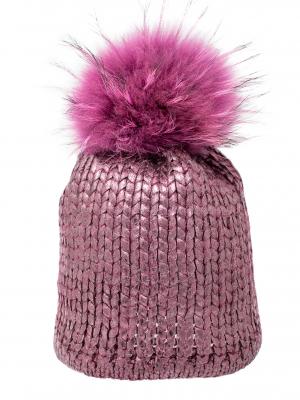 Cappello rosa metallizzato