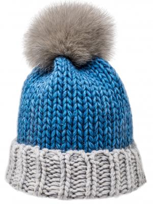 Cappello blu e bianco